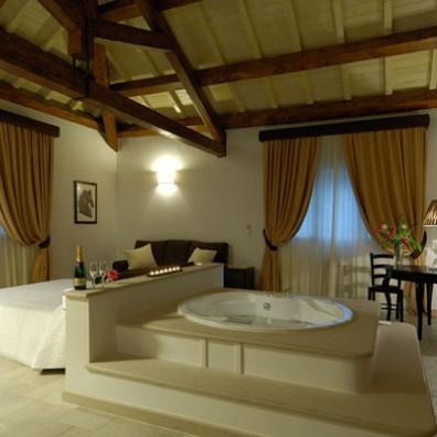 Una splendida camera della Masseria Baroni Nuovi