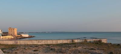 Vista sul mare di Gallipoli