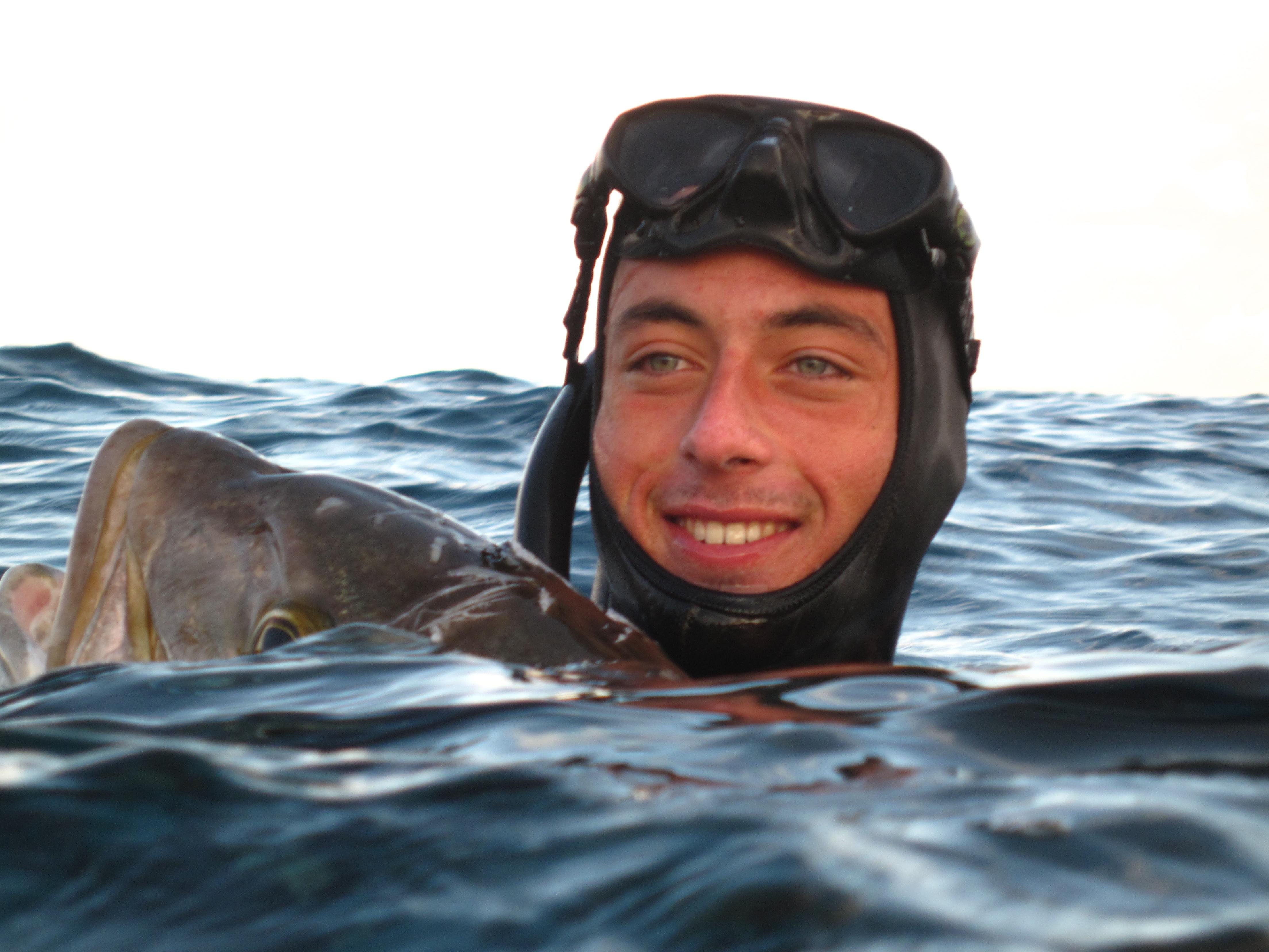 Francesco Sena, istruttore apnea