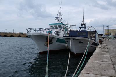 Navi pescatori a Gallipoli