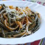 Spaghetti con i fagiolini alla pugliese