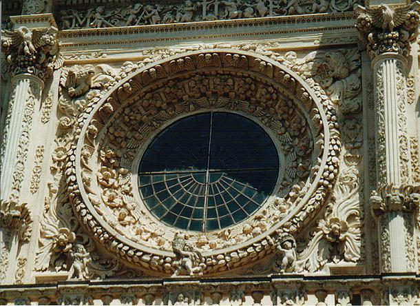 Rosone barocco di Lecce