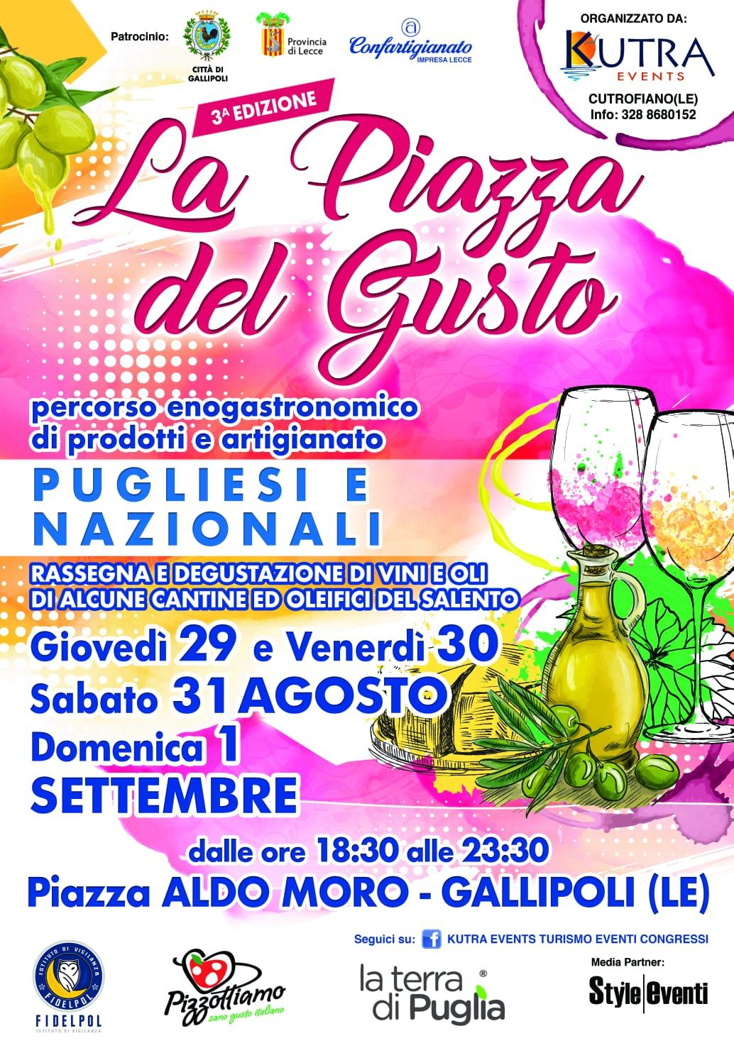 La piazza del gusto Gallipoli – La Terra di Puglia