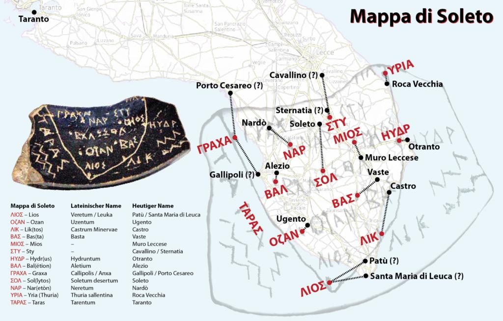 mappa di Soleto, ostrakon - Laterradipuglia.it