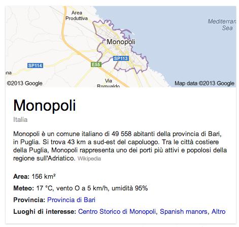 Informazioni da Google