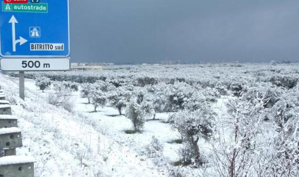 Ancora neve in Puglia, e siamo a fine aprile