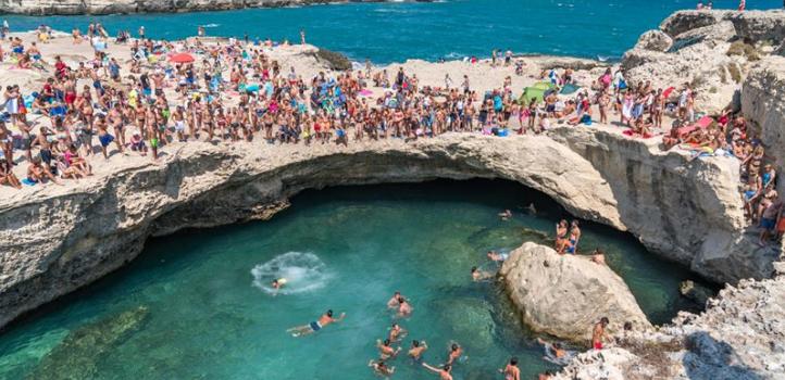 Ecco il video della piscina naturale ad Otranto girato con un drone