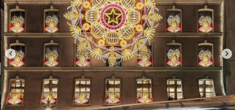 Luminarie salentine illuminano a festa i punti vendita Dior