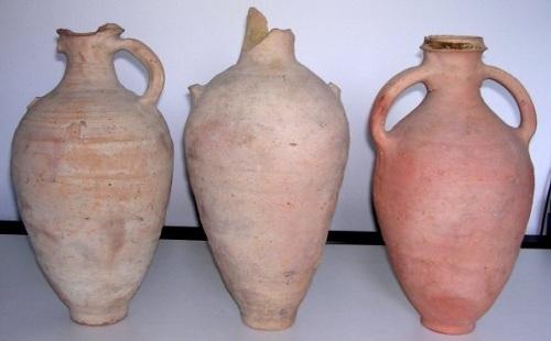 Le Anfore da vino al Castello Aragonese