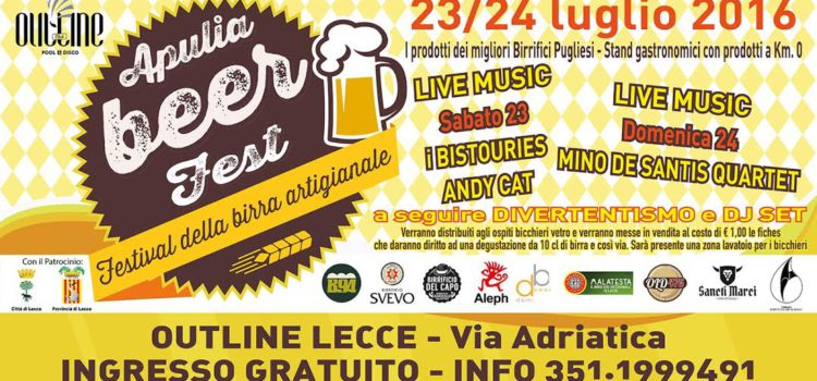 A Lecce va in scena l'Apulia Beer Fest