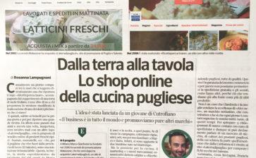Dalla terra alla tavola, lo shop online della cucina pugliese (Corriere Economia)