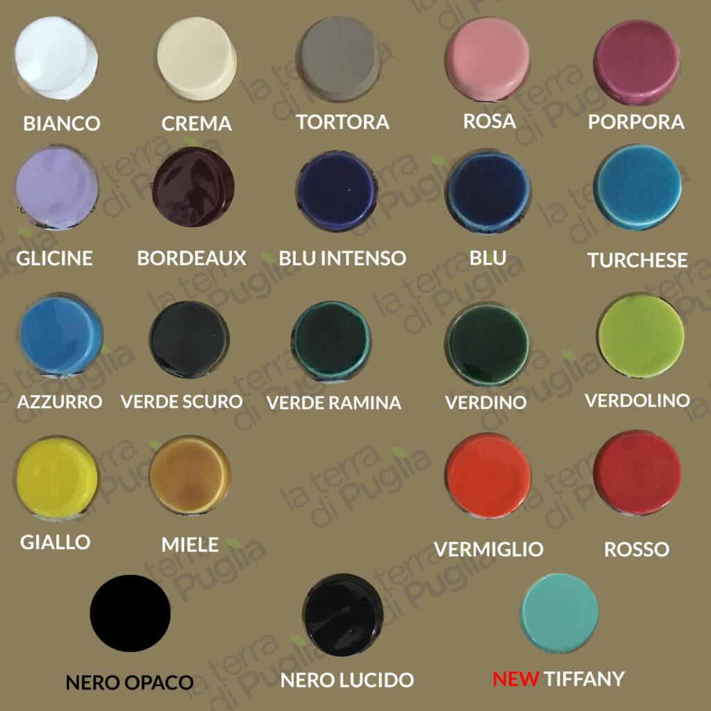 palloncini artigianali in ceramica pugliese tabella colori - Laterradipuglia.it
