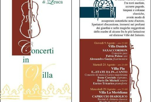 Rassegna Concerti in Villa a Santa Maria di Leuca
