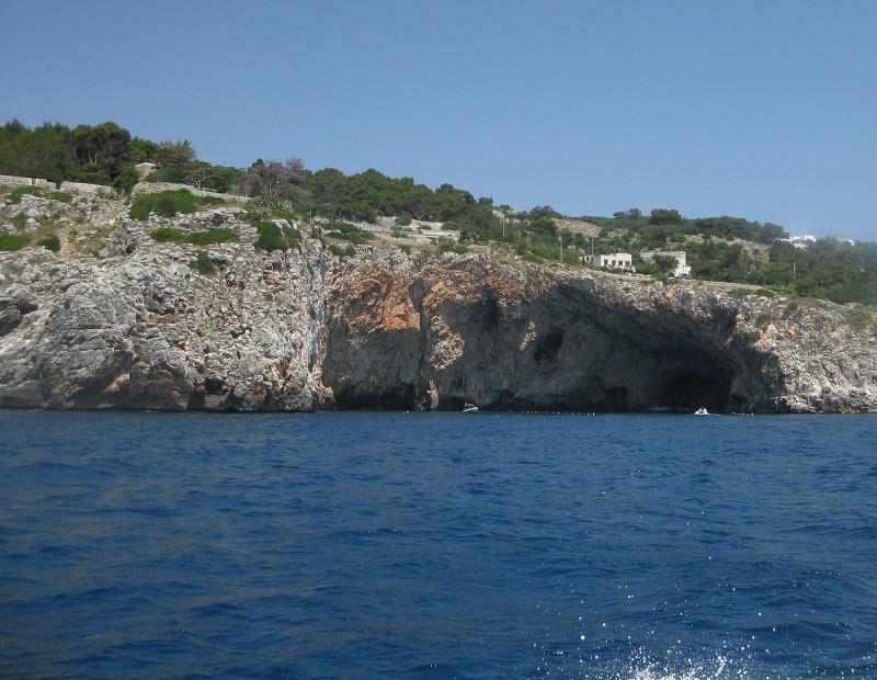 Grotte marine nei pressi di Castro