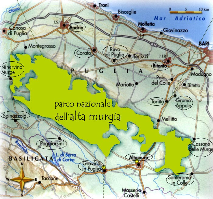 Cartina Puglia Altamura.Le Murge Laterradipuglia It