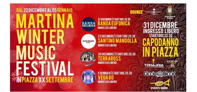A Martina Franca l'evento Martina Winter Music Festival
