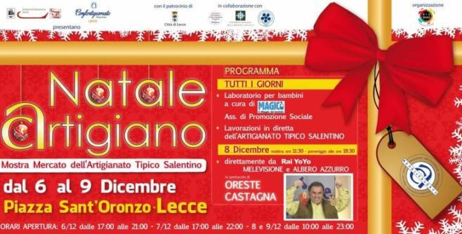 Natale Artigiano in Salento dal 6 al 9 dicembre