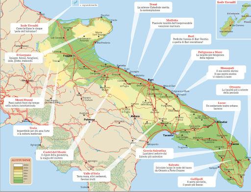 Cartina Puglia Con Tutti I Paesi.Elenco Comuni Della Puglia Laterradipuglia It