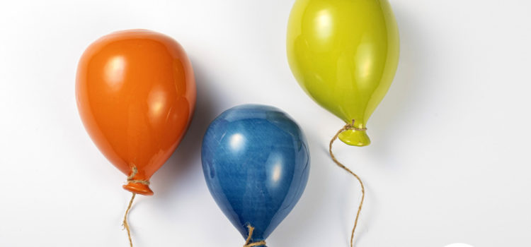 Spopolano i Balloons, palloncini decorativi in ceramica
