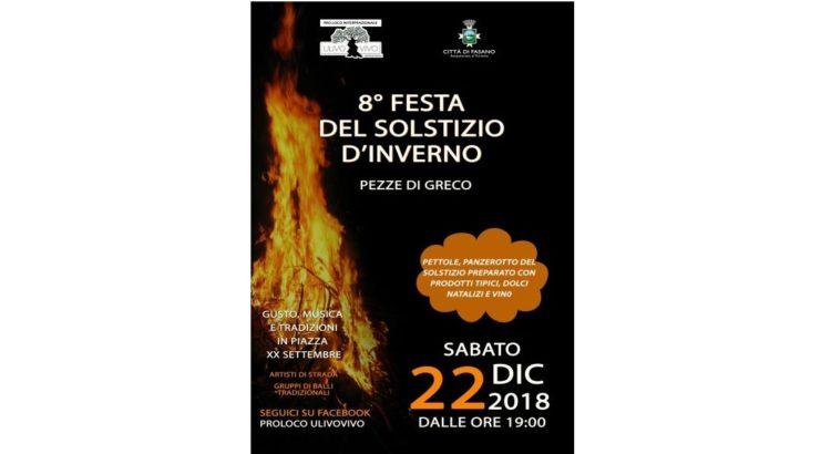 A Fasano la Festa del Solstizio d'Inverno 2018