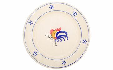 Piatti decorati con gallo: qualche curiosità poco nota