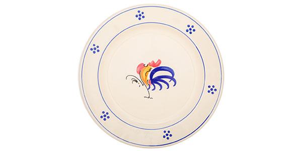 Storia dei piatti col gallo