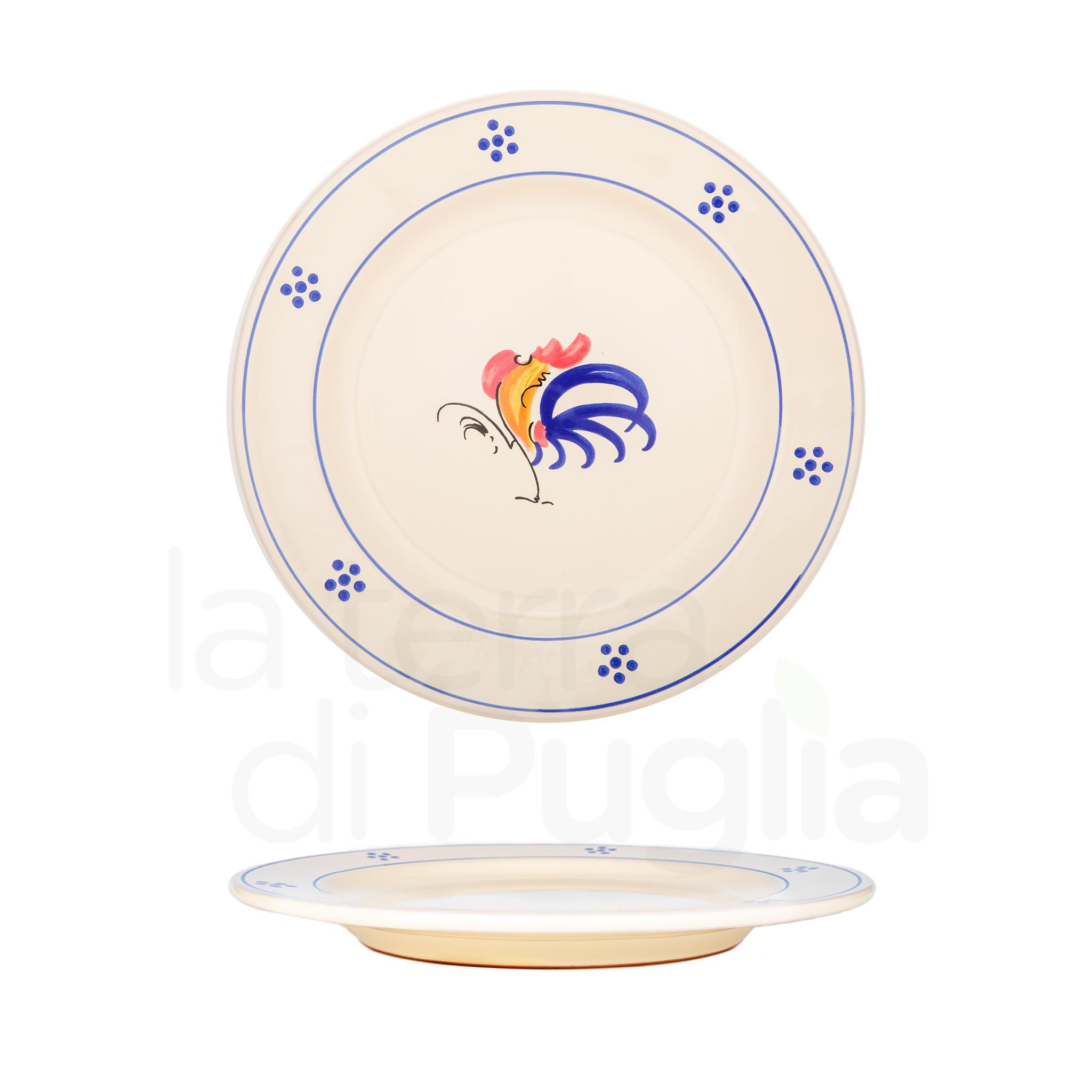 piatto piano in ceramica grande