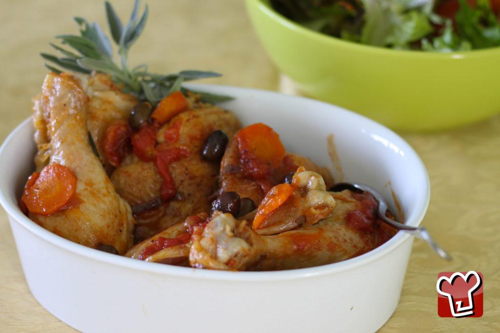 Pollo alla cacciatora con pelati - La Terra di Puglia