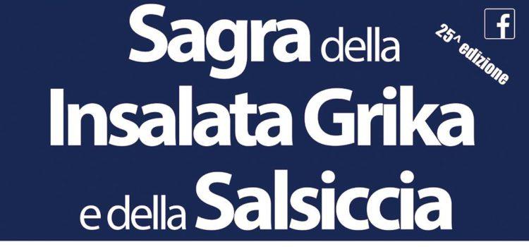La 25esima edizione della Sagra dell'Insalata Grika e della Salsiccia a Martignano