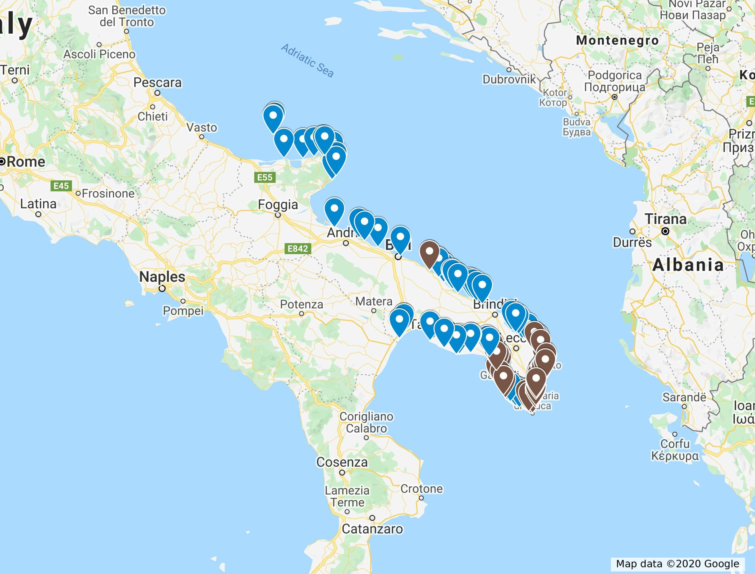 Cartina Puglia Spiagge.Una Guida Alle Spiagge Della Puglia Laterradipuglia It