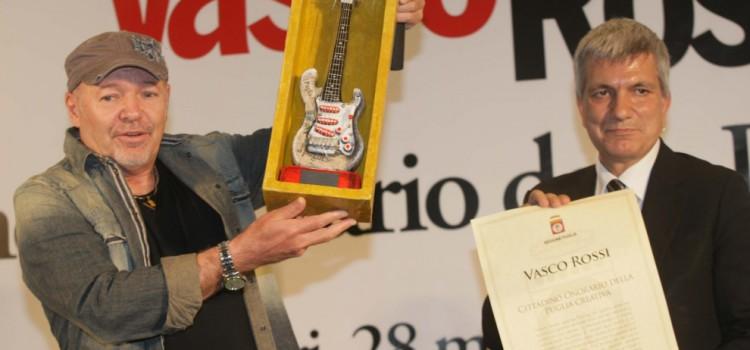 Vasco è cittadino onorario della Puglia Creativa